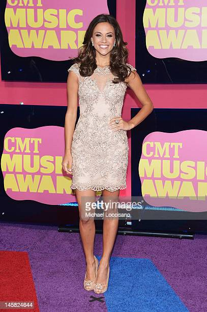 Actress/Singer Jana Kramer arrives at the 2012 CMT Music awards at the Bridgestone Arena on June 6 2012 in Nashville Tennessee