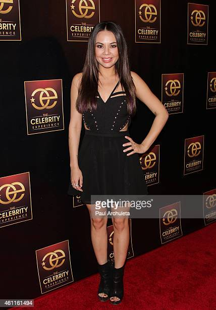 Actress/singer Janel Parrish attends the 'Celebrity Experience' panel at The Hilton Universal Hotel on January 7 2015 in Los Angeles California