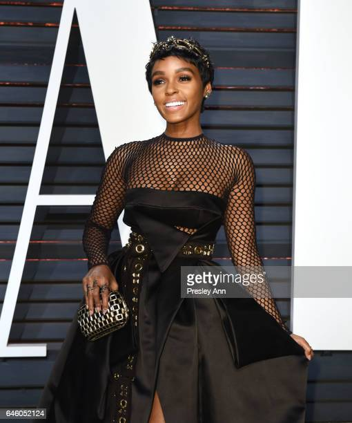 Actress/singer Janelle Monae attends the 2017 Vanity Fair Oscar Party hosted by Graydon Carter at Wallis Annenberg Center for the Performing Arts on...