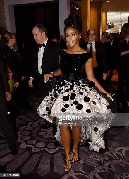 Actress/singer Janelle Monae attends the 74th Annual Golden Globe Awards at The Beverly Hilton Hotel on January 8 2017 in Beverly Hills California