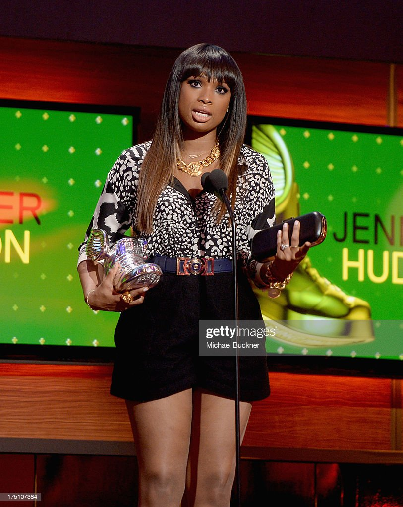 Actress/singer Jennifer Hudson accepts an award onstage at the DoSomething.org and VH1's 2013 Do Something Awards at Avalon on July 31, 2013 in Hollywood, California.
