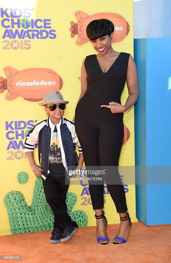 Actress/singer Jennifer Hudson and David Daniel Otunga Jr attend Nickelodeon's 28th Annual Kids' Choice Awards held at The Forum on March 28 2015 in...