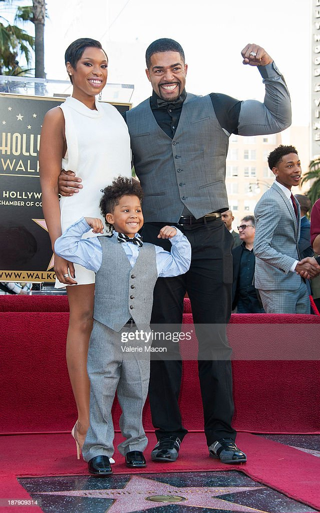Actress/singer Jennifer Hudson and her family attend the ceremony honoring her with a Star on The Hollywood Walk of Fame on November 13, 2013 in Hollywood, California.