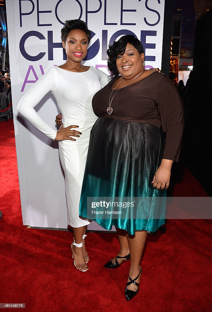 Actress-singer Jennifer Hudson (L) and sister Julia Hudson attend The 40th Annual People's Choice Awards at Nokia Theatre L.A. Live on January 8, 2014 in Los Angeles, California.