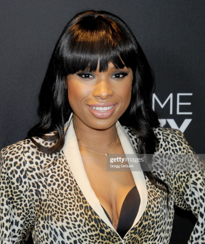 Actress/singer <a gi-track='captionPersonalityLinkClicked' href=/galleries/search?phrase=Jennifer+Hudson&family=editorial&specificpeople=234833 ng-click='$event.stopPropagation()'>Jennifer Hudson</a> arrives at the Lifetime movie premiere of 'Call Me Crazy: A Five Film' at Pacific Design Center on April 16, 2013 in West Hollywood, California.