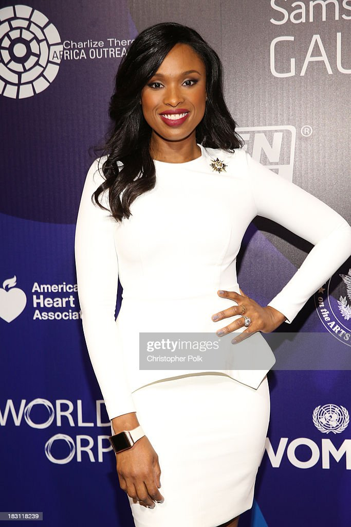 Actress-singer <a gi-track='captionPersonalityLinkClicked' href=/galleries/search?phrase=Jennifer+Hudson&family=editorial&specificpeople=234833 ng-click='$event.stopPropagation()'>Jennifer Hudson</a> attends Samsung Galaxy at Variety's 5th Annual Power of Women event presented by Lifetime at the Beverly Wilshire Four Seasons Hotel on October 4, 2013 in Beverly Hills, California.