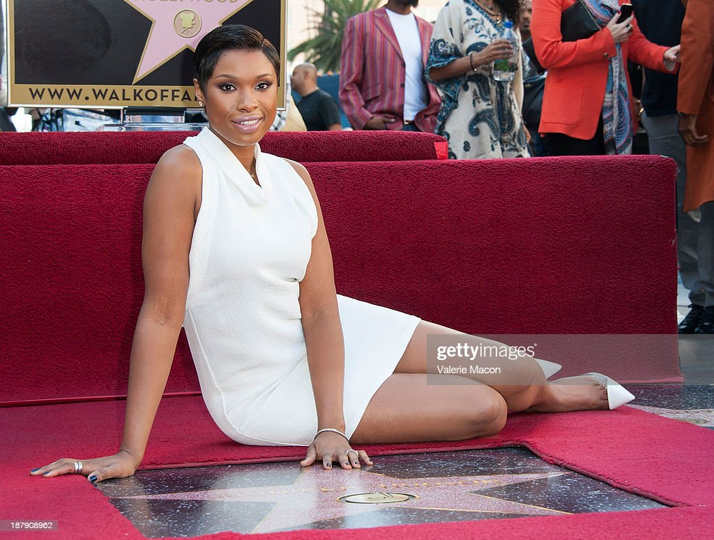Actress/singer <a gi-track='captionPersonalityLinkClicked' href=/galleries/search?phrase=Jennifer+Hudson&family=editorial&specificpeople=234833 ng-click='$event.stopPropagation()'>Jennifer Hudson</a> attends the ceremony honoring her with a Star on The Hollywood Walk of Fame on November 13, 2013 in Hollywood, California.
