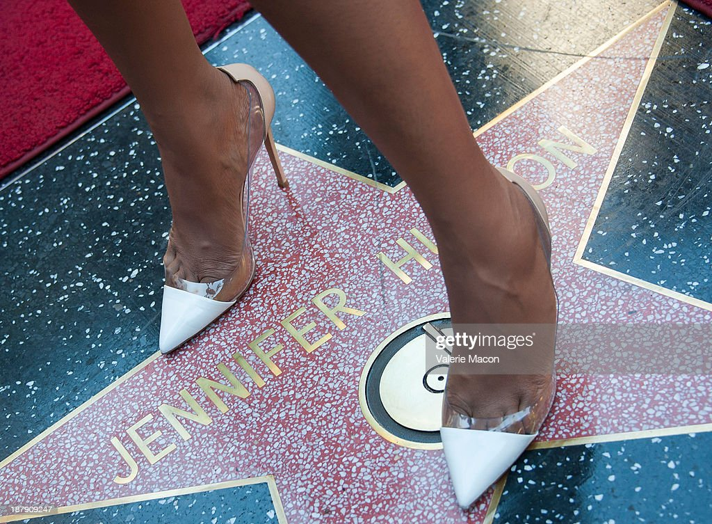 Actress/singer Jennifer Hudson attends the ceremony honoring her with a Star on The Hollywood Walk of Fame on November 13, 2013 in Hollywood, California.