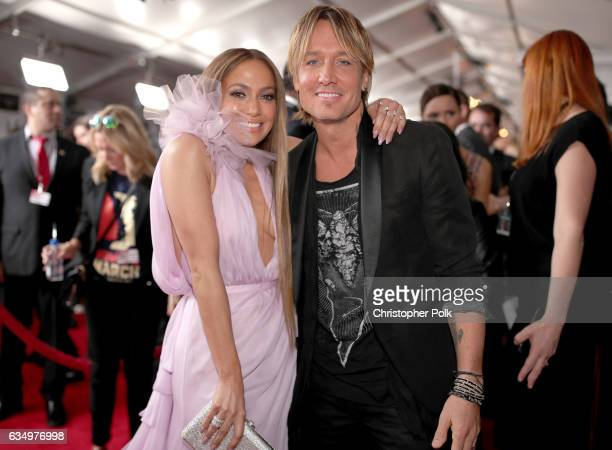 Actress/Singer Jennifer Lopex and musician Keith Urban attend The 59th GRAMMY Awards at STAPLES Center on February 12 2017 in Los Angeles California