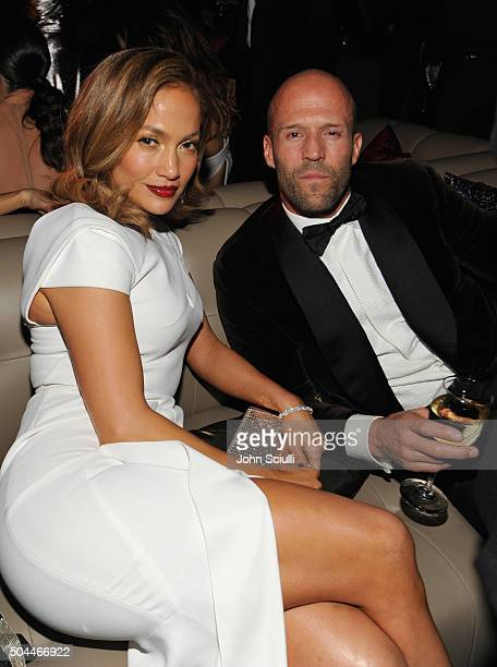 Actress/singer Jennifer Lopez and actor Jason Statham attend The 2016 InStyle and Warner Bros 73rd annual Golden Globe Awards PostParty at The...