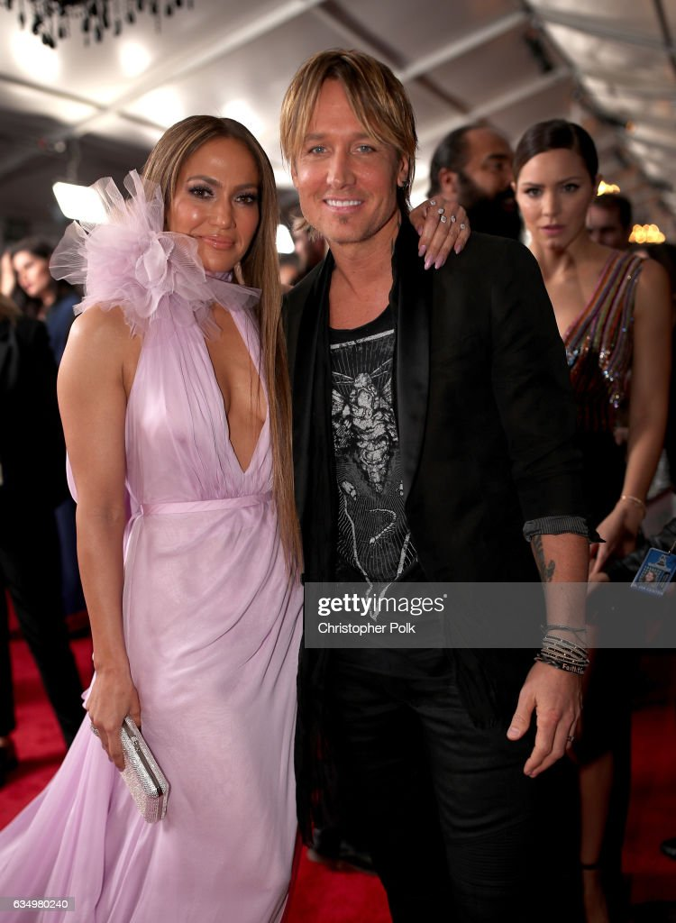 Actress/Singer Jennifer Lopez and musician Keith Urban attend The 59th GRAMMY Awards at STAPLES Center on February 12, 2017 in Los Angeles, California.
