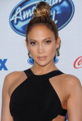 Actress/singer Jennifer Lopez arrives at Fox's 'American Idol XIII' finalists party held at Fig Olive Melrose Place on February 20 2014 in West...