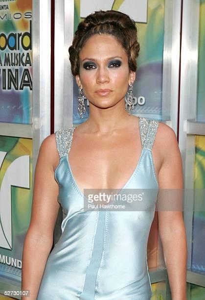 Actress/singer Jennifer Lopez arrives at the 2005 Billboard Latin Music Awards at the Miami Arena April 28 2005 in Miami Florida