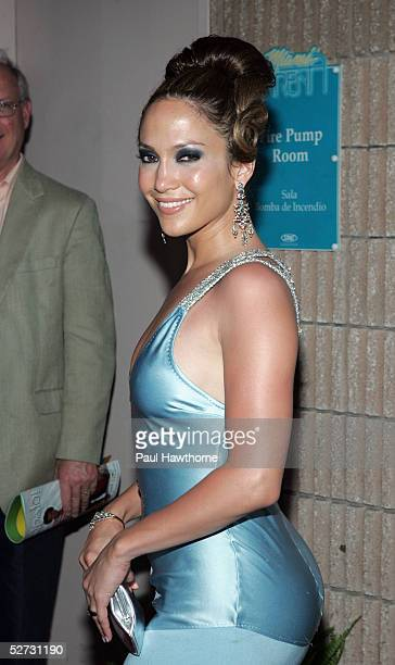 Actress/singer Jennifer Lopez arrives at the 2005 Billboard Latin Music Awards at the Miami Arena on April 28 2005 in Miami Florida