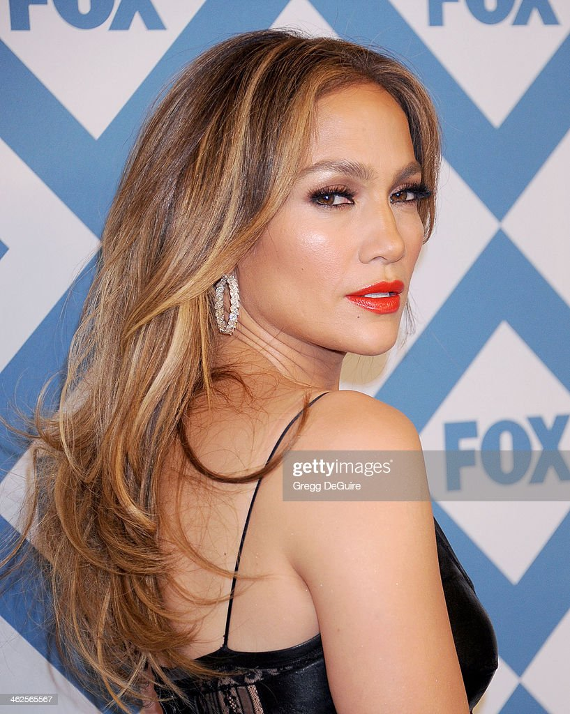 Actress/singer Jennifer Lopez arrives at the 2014 TCA winter press tour FOX all-star party at The Langham Huntington Hotel and Spa on January 13, 2014 in Pasadena, California.