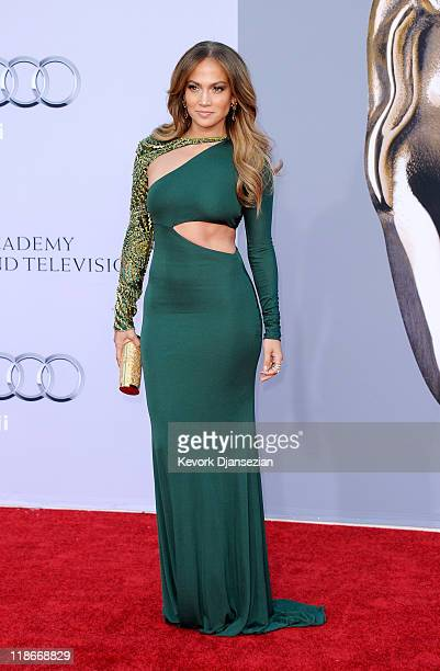 Actress/singer Jennifer Lopez arrives at the BAFTA Brits To Watch event held at the Belasco Theatre on July 9 2011 in Los Angeles California