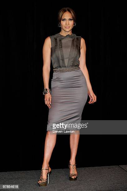 Actress/singer Jennifer Lopez arrives at the CBS Films presentation to promote her upcoming movie 'The Backup Plan' at Paris Las Vegas during ShoWest...