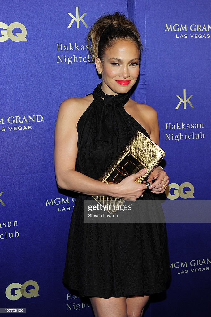 Actress/singer <a gi-track='captionPersonalityLinkClicked' href=/galleries/search?phrase=Jennifer+Lopez&family=editorial&specificpeople=201784 ng-click='$event.stopPropagation()'>Jennifer Lopez</a> arrives at the grand opening of Hakkasan Las Vegas Restaurant and Nightclub at the MGM Grand Hotel/Casino on April 27, 2013 in Las Vegas, Nevada.