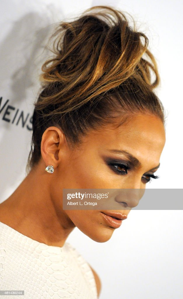 Actress/singer Jennifer Lopez arrives for the 2015 Weinstein Company And Netflix Golden Globes After Party held on January 11 2015 in Beverly Hills...