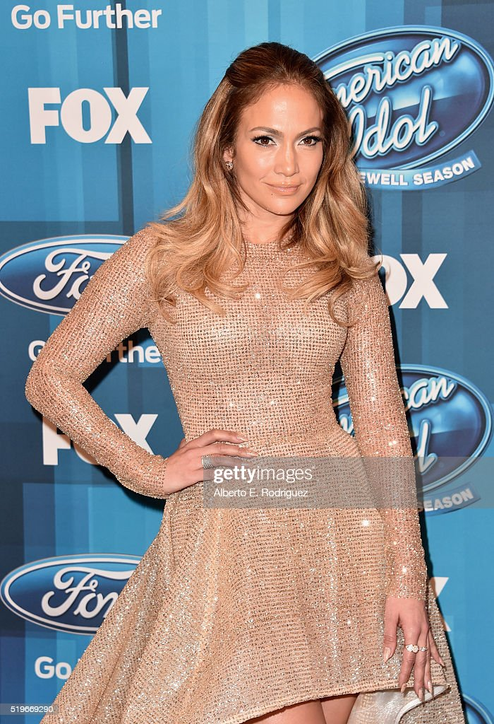 Actress/Singer Jennifer Lopez attends FOX's 'American Idol' Finale For The Farewell Season at Dolby Theatre on April 7, 2016 in Hollywood, California. at Dolby Theatre on April 7, 2016 in Hollywood, California. at Dolby Theatre on April 7, 2016 in Hollywood, California.