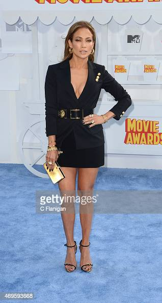 Actress/Singer Jennifer Lopez attends The 2015 MTV Movie Awards at Nokia Theatre LA Live on April 12 2015 in Los Angeles California