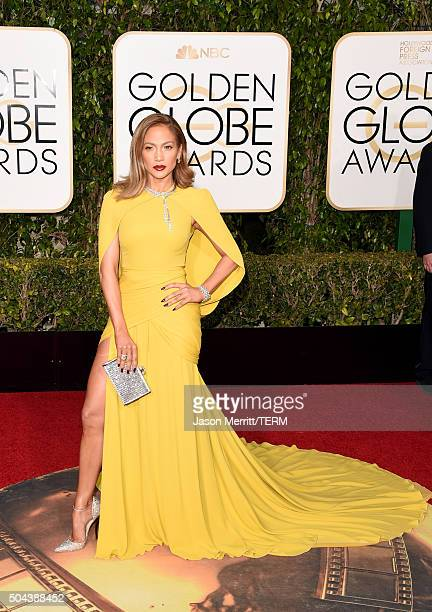 Actress/singer Jennifer Lopez attends the 73rd Annual Golden Globe Awards held at the Beverly Hilton Hotel on January 10 2016 in Beverly Hills...