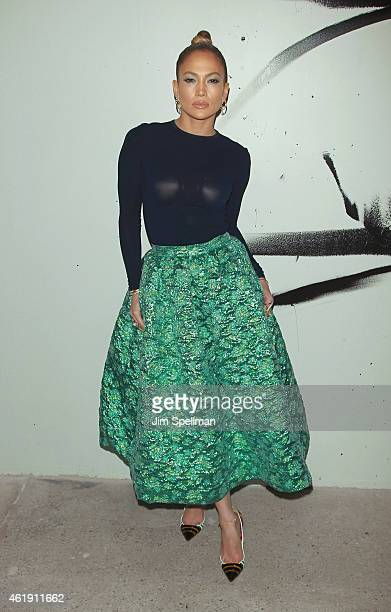 Actress/singer Jennifer Lopez attends the AOL Build Speaker Series at AOL Studios In New York on January 21 2015 in New York City