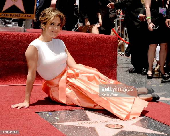 Actress/singer Jennifer Lopez is honored with the 2500th star on the Hollywood Walk of Fame on June 20 2013 in Los Angeles California