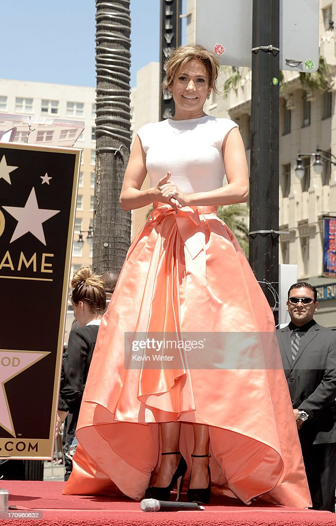 Actress/singer Jennifer Lopez is honored with the 2500th star on the Hollywood Walk of Fame on June 20, 2013 in Los Angeles, California.