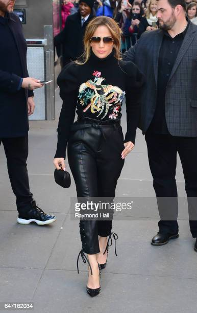 Actress/Singer Jennifer Lopez is seen outside the today Show on March 2 2017 in New York City