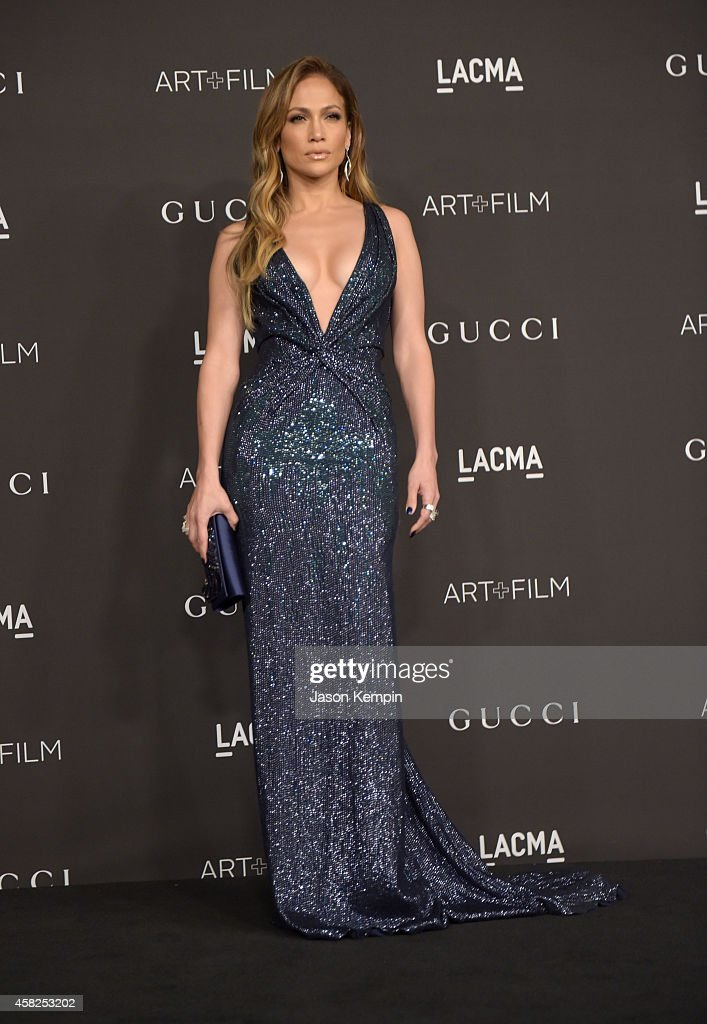 Actresssinger Jennifer Lopez wearing Gucci attends the 2014 LACMA Art Film Gala honoring Barbara Kruger and Quentin Tarantino presented by Gucci at...
