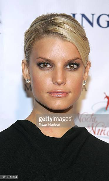 Actress/singer Jessica Simpson arrives at the 2nd Annual Noche De Ninos in aid of the Childrens Hospital Los Angeles honoring Johnny Depp at the...