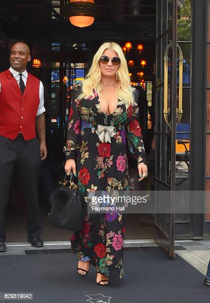 Actress/Singer Jessica Simpson is seen walking in Soho on August 10 2017 in New York City