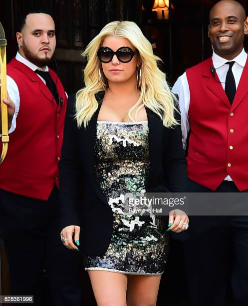 Actress/Singer Jessica Simpson is seen walking in Soho on August 9 2017 in New York City