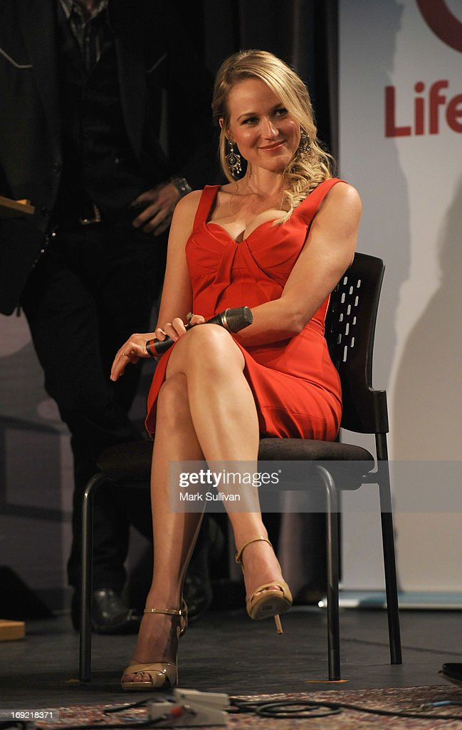 Actress/singer Jewel onstage during The GRAMMY Museum Presents Reel To Reel Ring Of Fire at The GRAMMY Museum on May 21 2013 in Los Angeles California