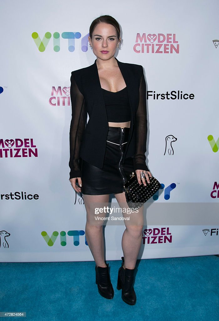 Actress/singer Joanna '<a gi-track='captionPersonalityLinkClicked' href=/galleries/search?phrase=JoJo+-+Singer&family=editorial&specificpeople=202981 ng-click='$event.stopPropagation()'>JoJo</a>' Levesque attends the VITY (Vine, Instagram, Twitter, YouTube) concert experience launch party at Siren Studios on May 9, 2015 in Hollywood, California.