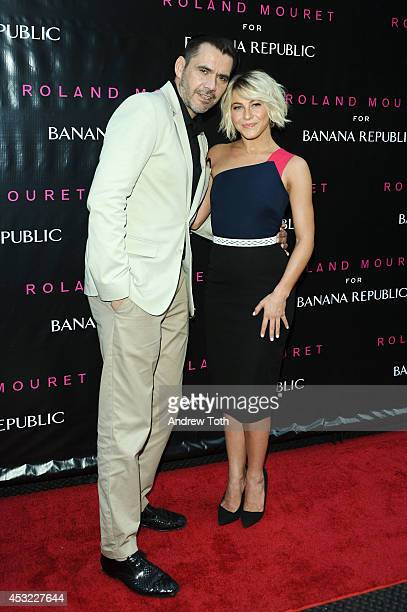 Actress/singer Julianne Hough and designer Roland Mouret attend Roland Mouret for Banana Republic collection launch celebration at White Street...