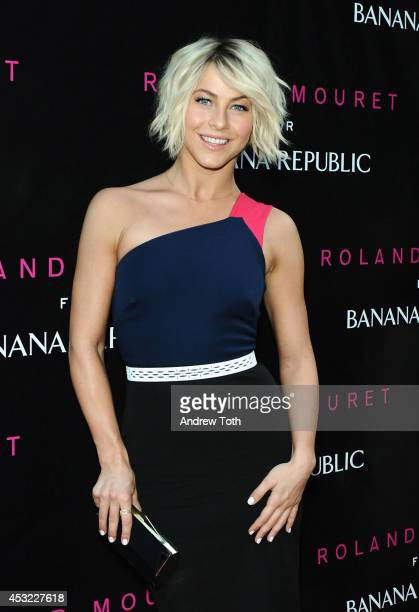 Actress/singer Julianne Hough attends Roland Mouret for Banana Republic collection launch celebration at White Street Restaurant on August 5 2014 in...
