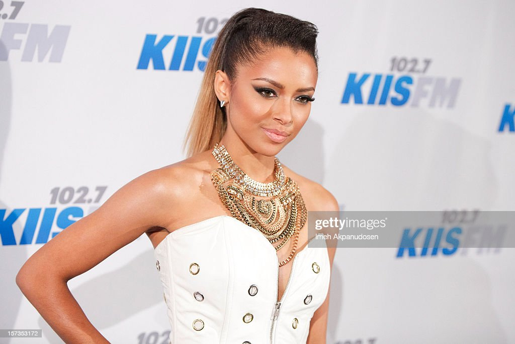 Actress/singer Kat Graham attends KIIS FM's 2012 Jingle Ball at Nokia Theatre L.A. Live on December 1, 2012 in Los Angeles, California.