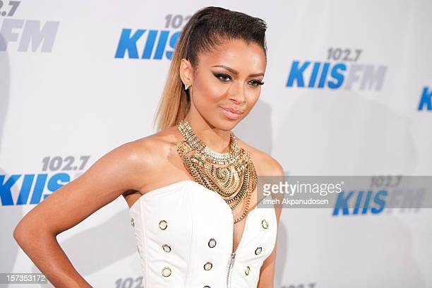 Actress/singer Kat Graham attends KIIS FM's 2012 Jingle Ball at Nokia Theatre LA Live on December 1 2012 in Los Angeles California