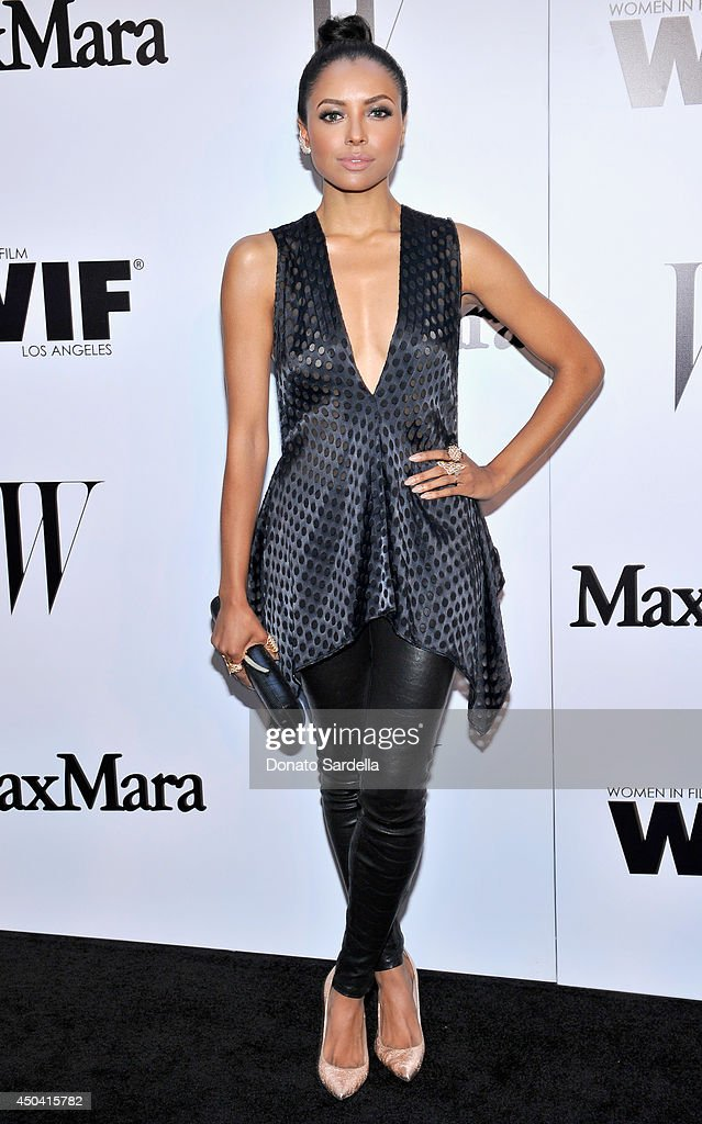 Actress/singer Kat Graham attends MaxMara And W Magazine Cocktail Party To Honor The Women In Film MaxMara Face Of The Future, Rose Byrne at Chateau Marmont on June 10, 2014 in Los Angeles, California.