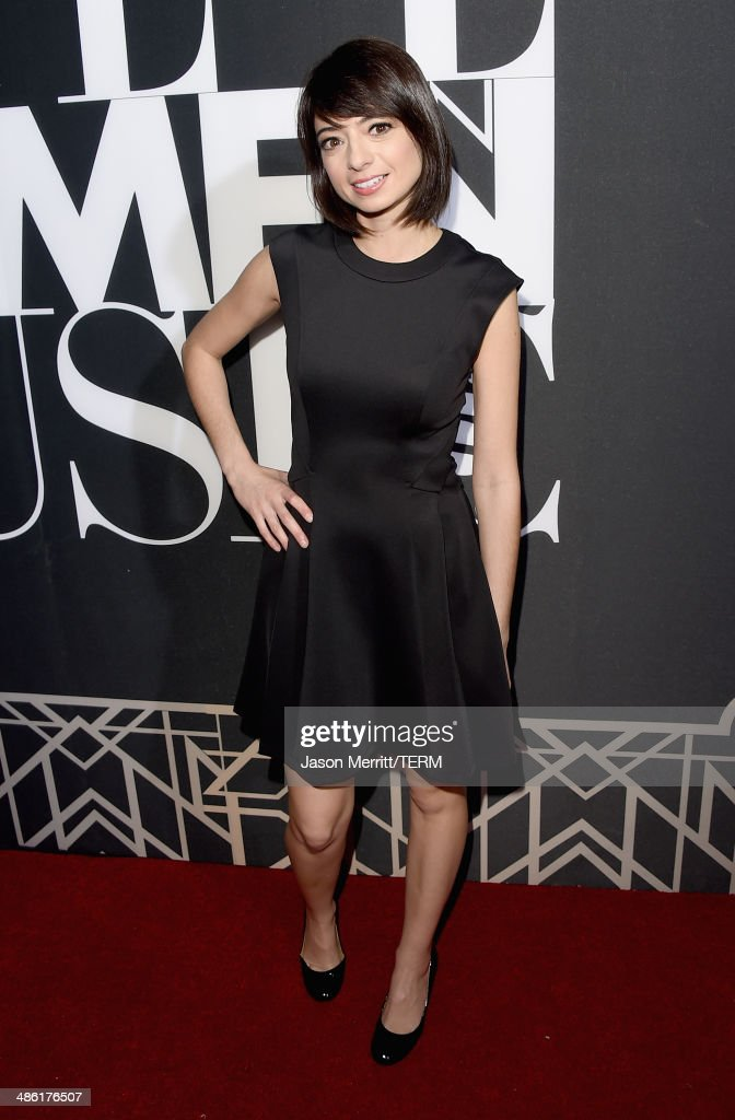 Actress-singer Kate Micucci of Garfunkel and Oates attends the 5th Annual ELLE Women in Music Celebration presented by CUSP by Neiman Marcus. Hosted by ELLE Editor-in-Chief Robbie Myers with performances by Sarah McLachlan, Angel Haze and Betty Who, with special DJ set by Rumer Willis at Avalon on April 22, 2014 in Hollywood, California.