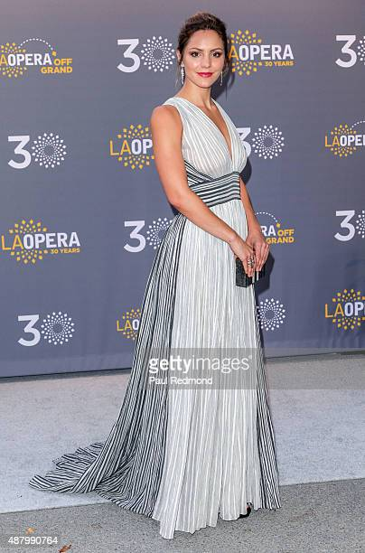 Actress/singer Katharine McPhee attends LA Opera's 30th Anniversary Season Opening Night at Dorothy Chandler Pavilion on September 12 2015 in Los...