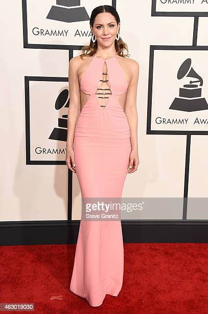 Actress/singer Katharine McPhee attends The 57th Annual GRAMMY Awards at the STAPLES Center on February 8 2015 in Los Angeles California