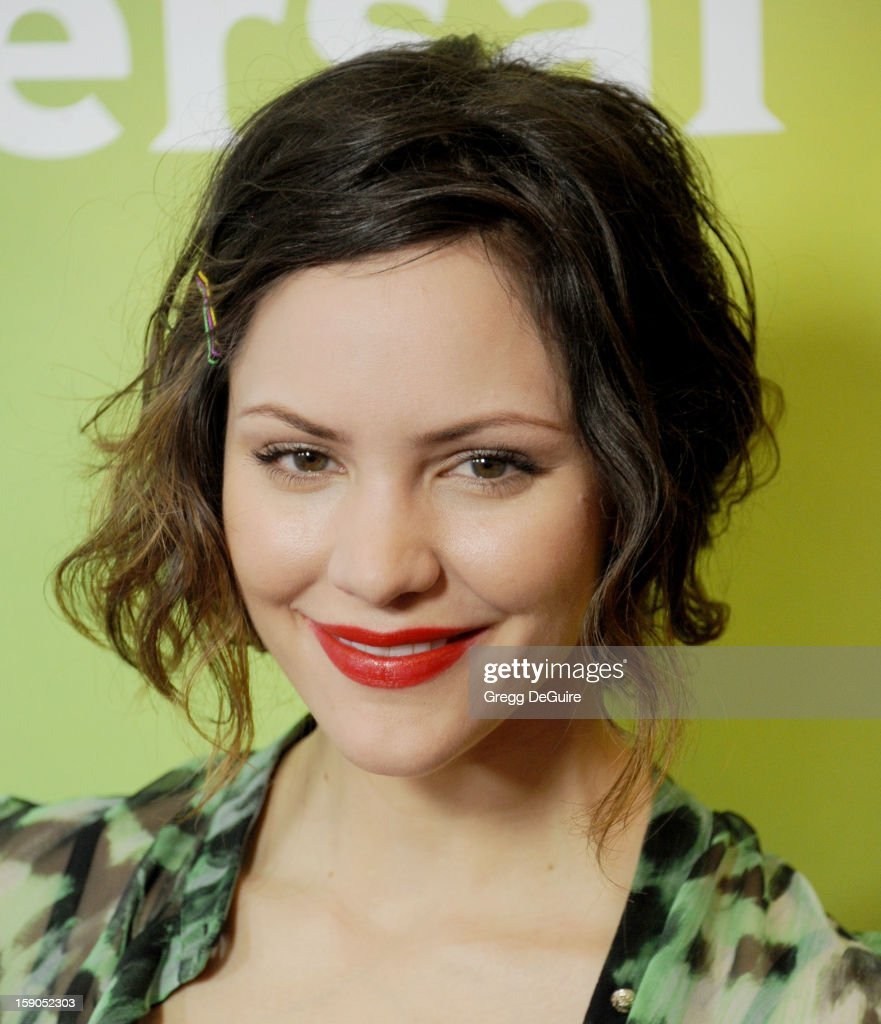 Actress/singer Katharine McPhee poses at the 2013 NBC Universal TCA Winter Press Tour Day 1 at The Langham Huntington Hotel and Spa on January 6, 2013 in Pasadena, California.
