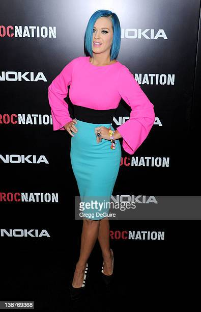 Actress/singer Katy Perry arrives at Roc Nation PreGrammy Brunch at Soho House on February 11 2012 in West Hollywood California