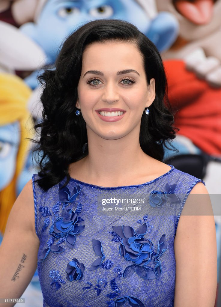 Actress/Singer <a gi-track='captionPersonalityLinkClicked' href=/galleries/search?phrase=Katy+Perry&family=editorial&specificpeople=599558 ng-click='$event.stopPropagation()'>Katy Perry</a> attends the premiere of Columbia Pictures' 'Smurfs 2' at Regency Village Theatre on July 28, 2013 in Westwood, California.