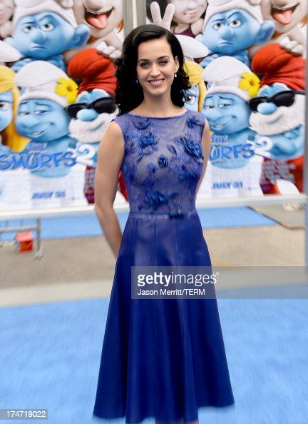 Actress/Singer Katy Perry attends the premiere of Columbia Pictures' 'Smurfs 2' at Regency Village Theatre on July 28 2013 in Westwood California
