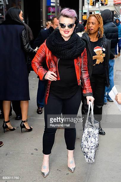 Actress/Singer Kelly Osbourne is seen outside 'Good Morning America' on December 21 2016 in New York City