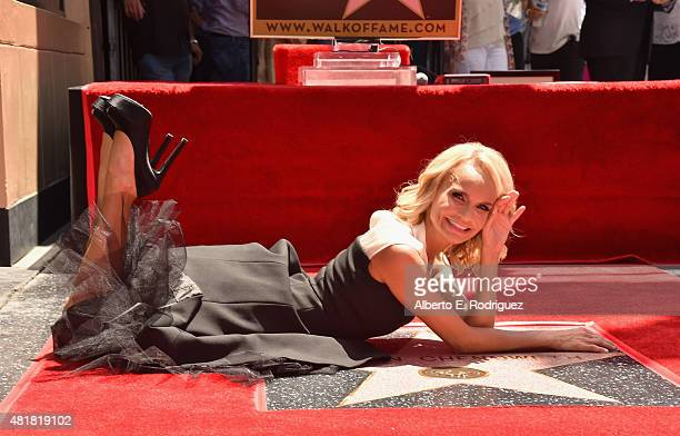 Actress/singer Kristin Chenoweth attends a ceremony honoring her with the 2555th star on the Hollywood Walk of Fame on July 24 2015 in Hollywood...